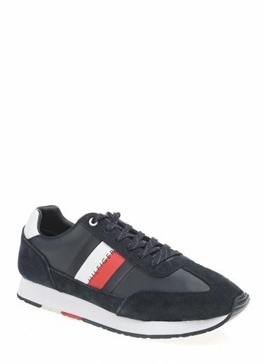 Tommy Hilfiger Erkek Corporate Leather Fla Sneakers FM0FM02380 Renkli